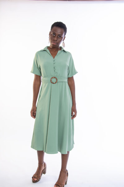ellen μοντέλο φοράει mint green dress